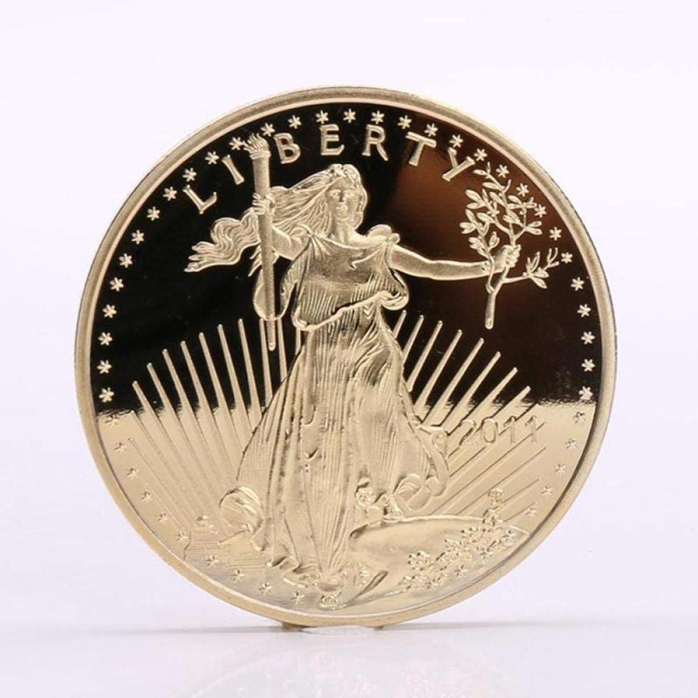 Statue of Liberty,Eagle,Commemorative Coin,Gilded,Badge,USA,Commemorative Coin,Collection,2011 Gift/A / 2pcs