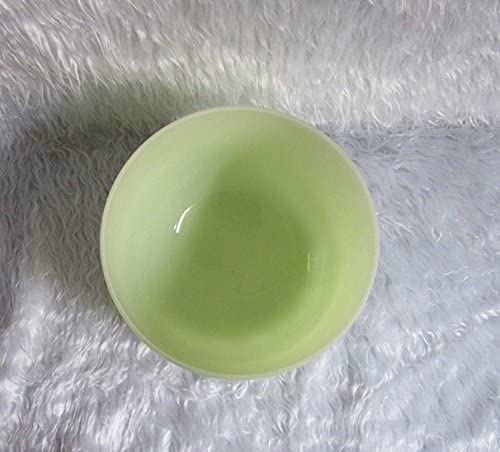 Green Natural Color G Note Throat Chakra 9 inch Classic Frosted Quartz Crystal Singing Bowl