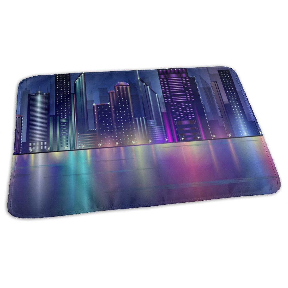 Night City Baby Changing Pad Waterproof Portable Changing Pad Home Travel 27.5¡±x19.7¡±