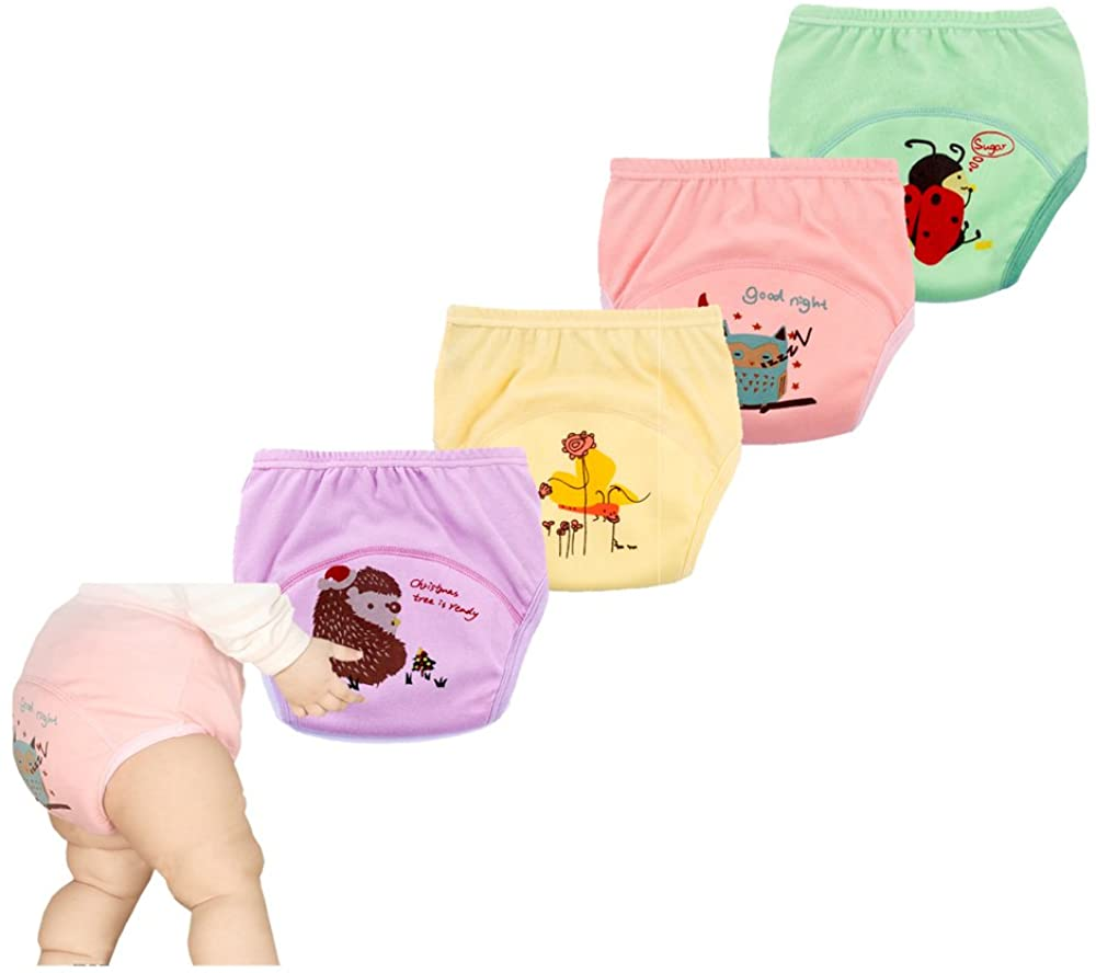 smart sisi 4 Pack New Anti Leakage Training Pants for Babies, Toddler 6 Layers Potty Training Pants