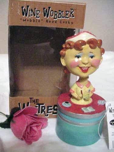 The Waitress Wine Wobbler- Bobble Head Cork