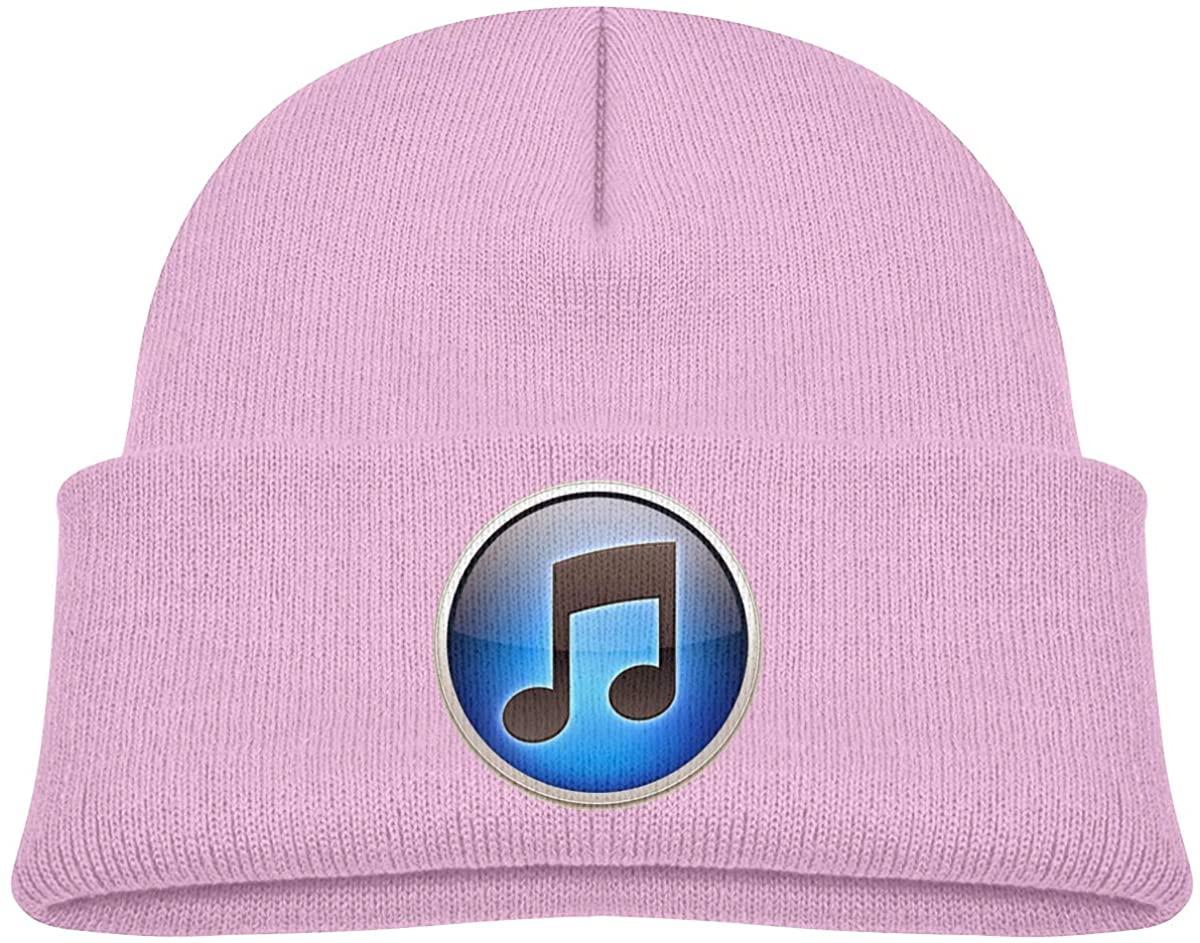 EASON-G Toddler's Beanie Music Logo Cuffed Knit Hat Skull Cap