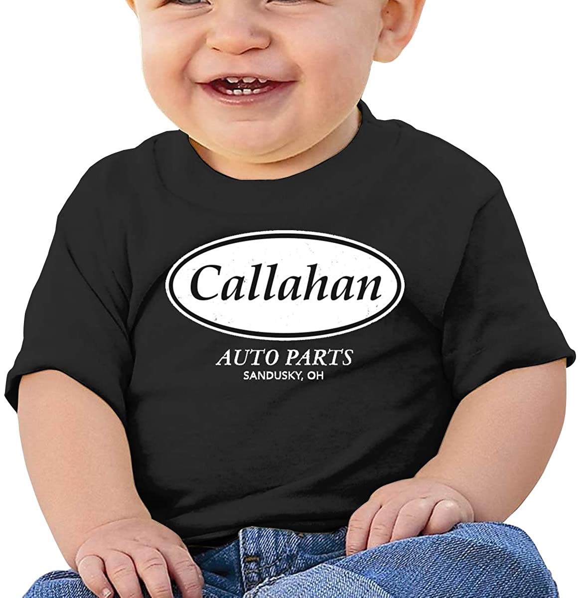 Wedday Baby T-Shirt Cute Infant Home Callahan Auto Graphic Toddler T Boys and Girls Soft Short Sleeve Cotton Kids Shirt