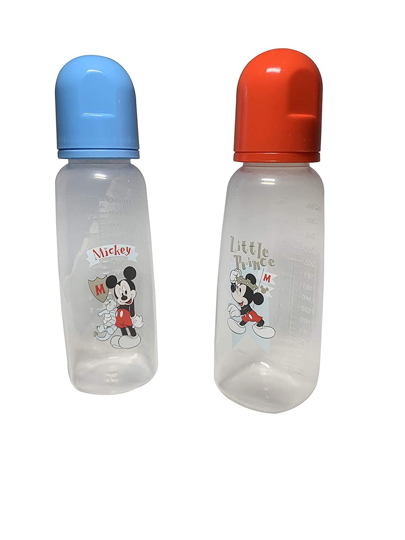 Set of 2 Baby Bottles Mickey Mouse Baby Bottles Set of 2 10 oz / 280 ml