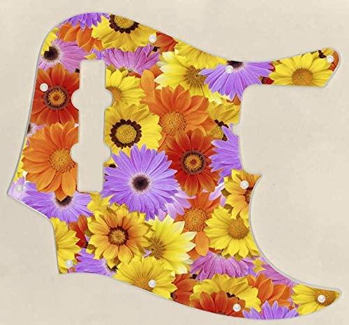 Custom Graphical Pickguard to fit Fender J Bass Jazz Bass Flower Power