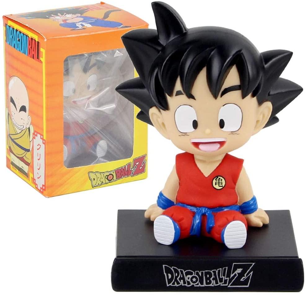 TUNABAP LLC Dragon Ball Z Phone Holder Son Goku Krillin Kuririn Childhood Bobble Head Figures Anime DBZ Model Toys - Goku B No Box - Type D361