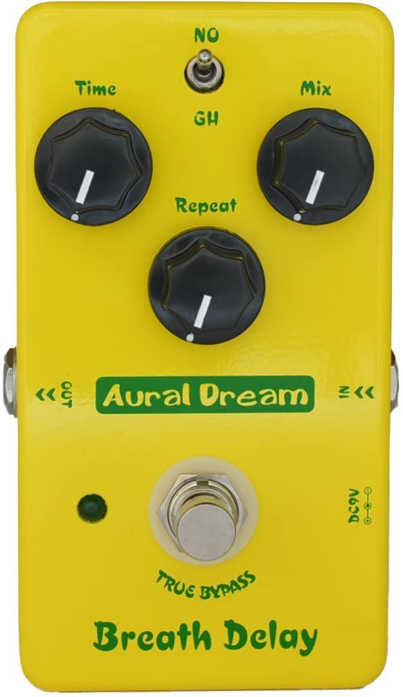 Aural Dream Breath Delay Guitar Effects Pedal with Classical Atmosphere Analog Delay and Post rock 600ms delay time for 2 modes of Analog Delay,True Bypass