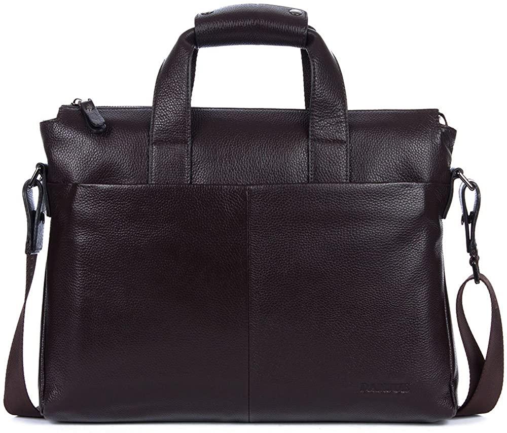 DANJUE Leather Men's Briefcase Laptop Handbag Shoulder Messenger Business Bags