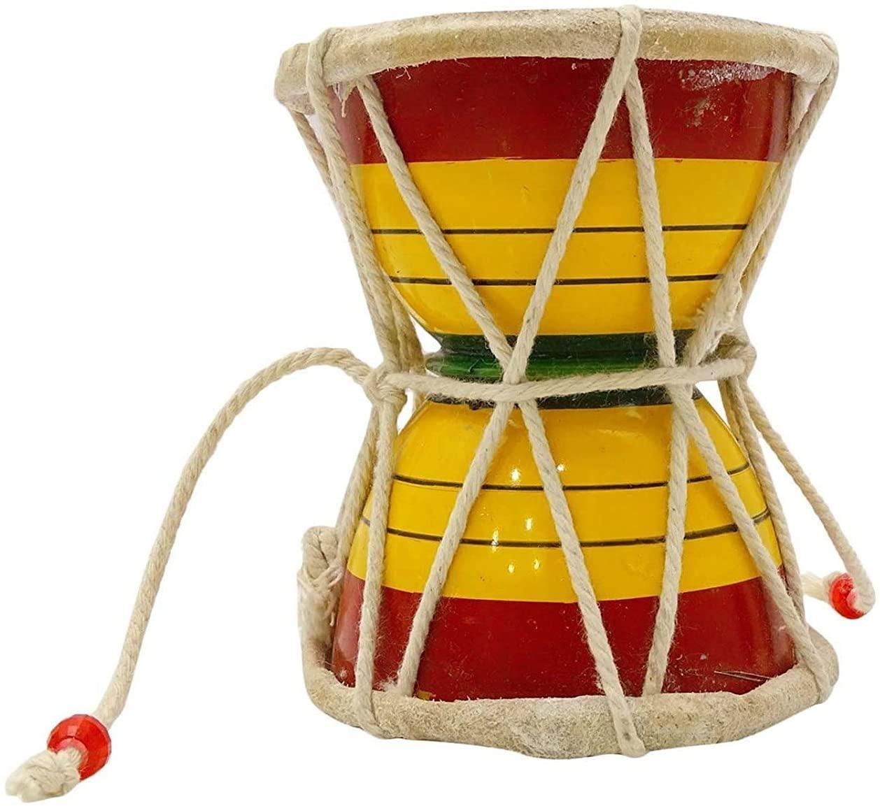 Wooden Hand Held Small Drum Damaru Damroo Percussion Djembe Drum - Nice Sound - JIVE BRAND