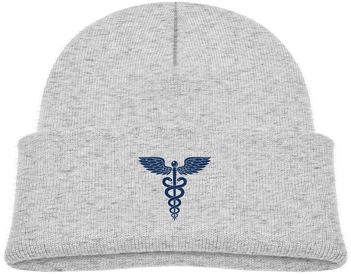 Alin-Z Medical Alert Toddler's Beanie Cuffed Knit Hat Cotton Skull Cap