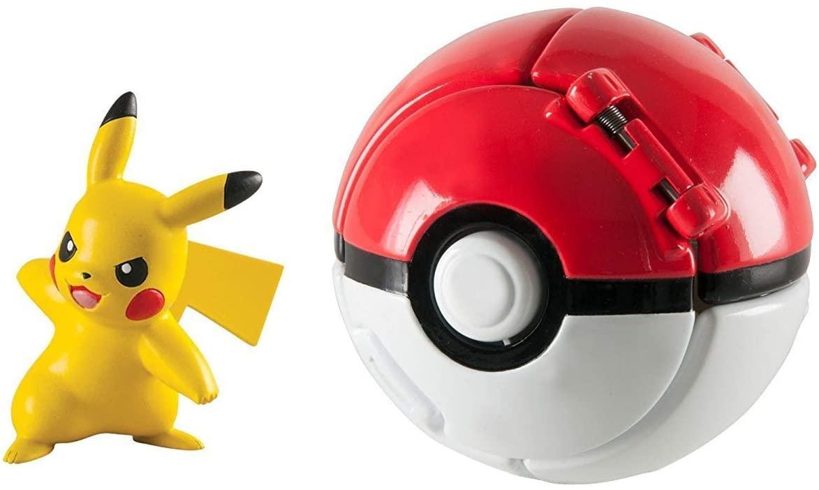 Pokemon Throw N Pop Poke Ball with Pikachu Action Figure Toy Set