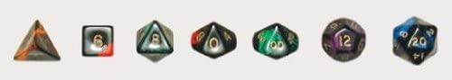 Crystal Caste Green Oblivion (Set of 7 Dice)