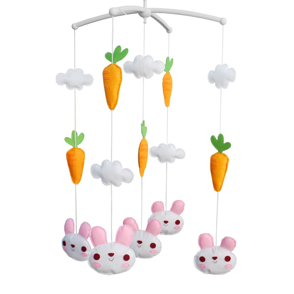 Musical Nursery Crib Mobile Newborn Gift Soft Musical Lullaby Mobile Baby Toy-B36