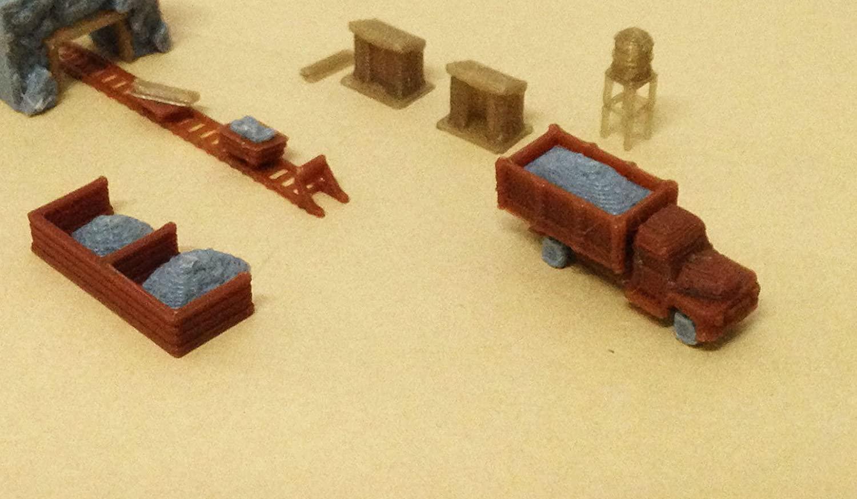 Outland Models Train Railway Ore Mining Accessories: Cart Truck Shanty. Z Scale