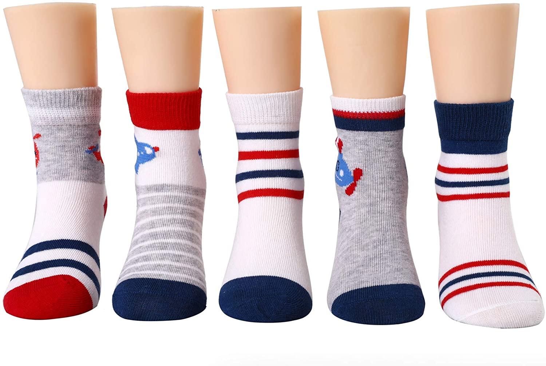 Joen Kids Boy Socks New Style Cotton (5 Pairs Pack)