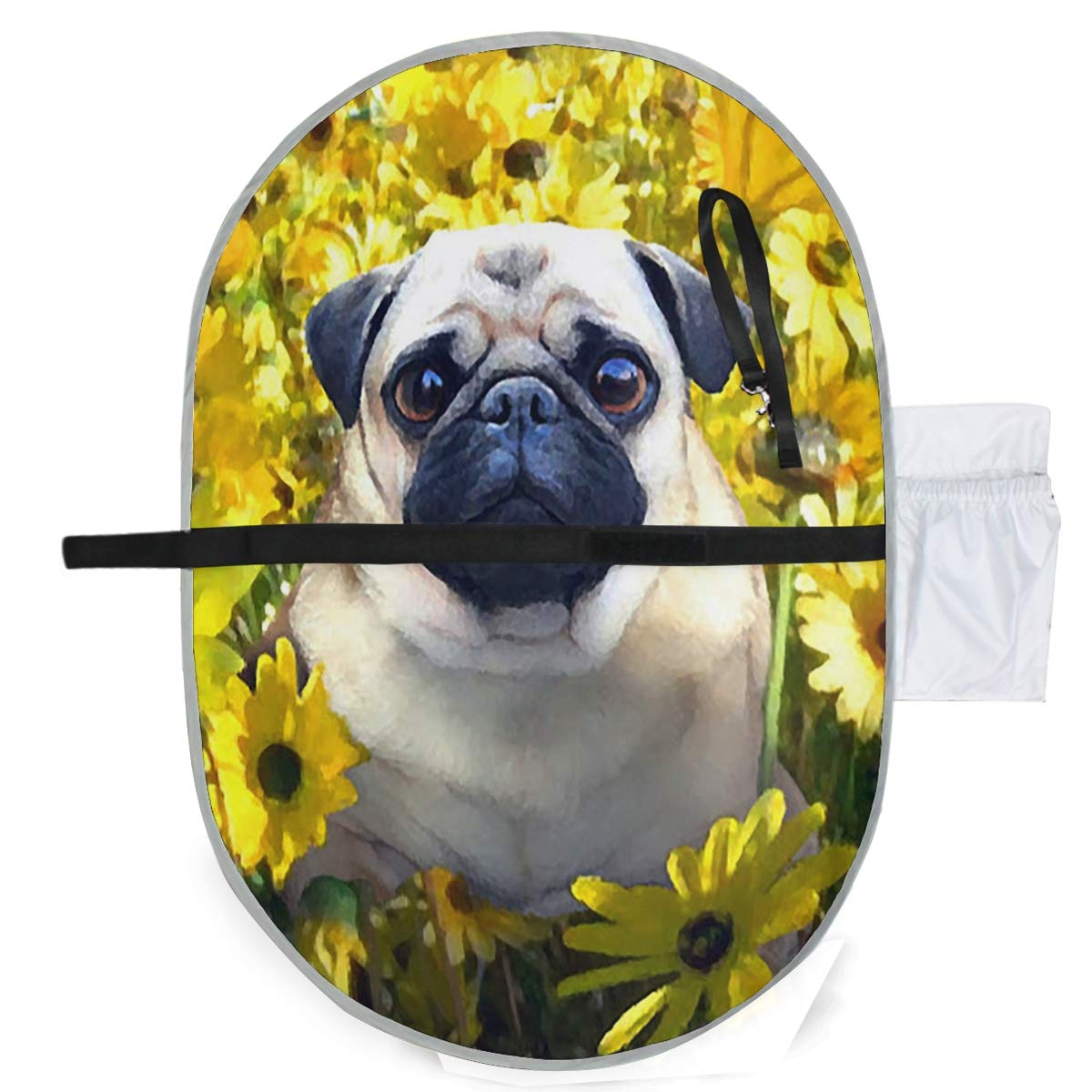 SLHFPX Changing Pad Pug Watercolor Baby Diaper Incontinence Pad Mat Hot Toddler Children Baby Mattress Sheet for Any Places for Home Travel Bed Play Stroller Crib Car