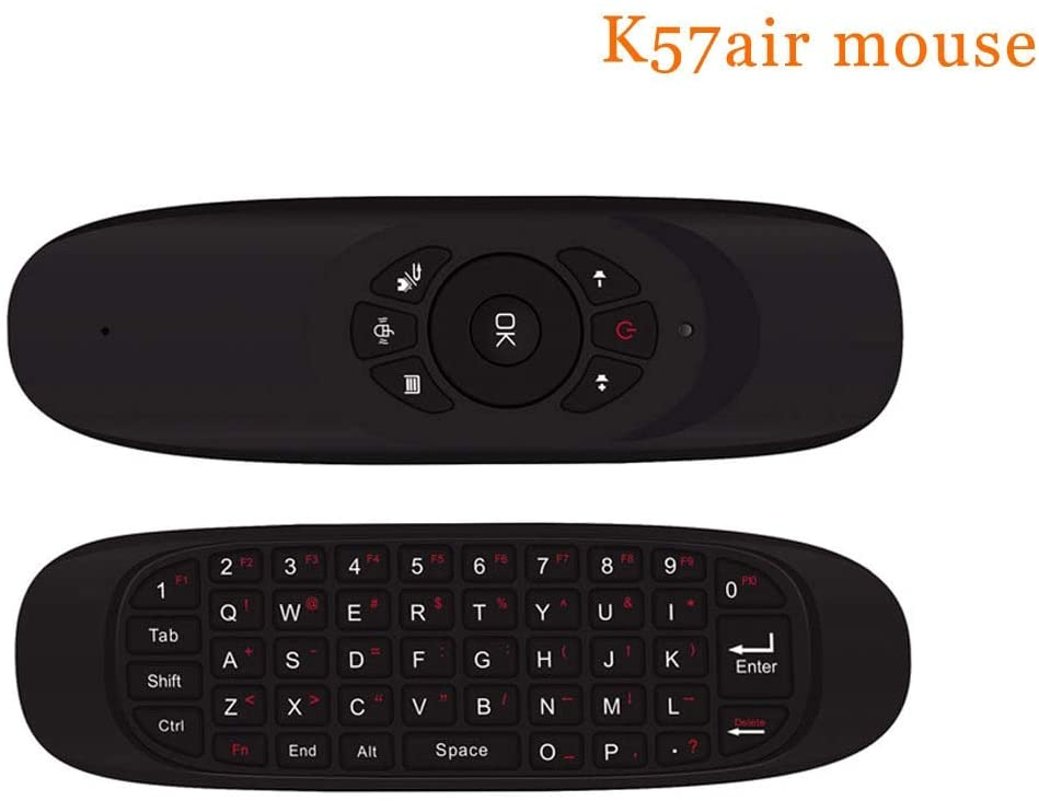Calvas C120 Fly air mouse mini Wireless Game Keyboard Rechargeable 2.4GHz Universal Smart Controle Remote for Android smart Tv Box Pc - (Color: c120)