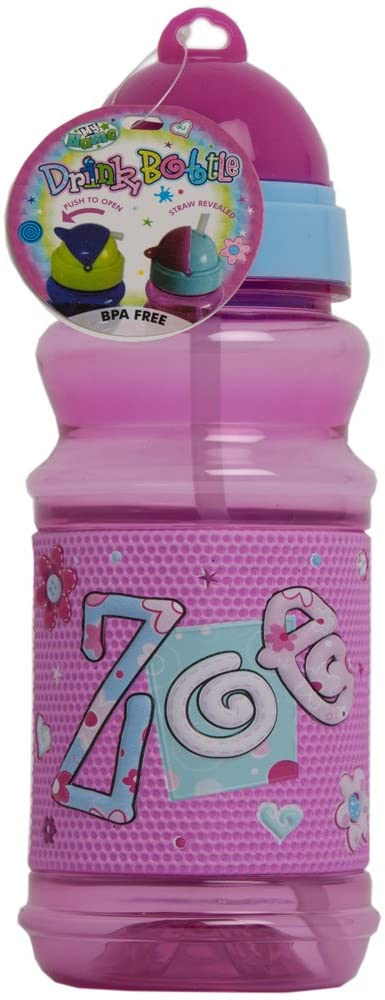 John Hinde Drink Bottle with Straw, Zoe