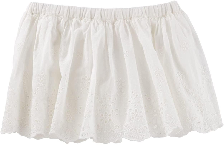 OshKosh B'Gosh Baby Girls' 2 Piece Eyelet Border Skirt, 9 Months Ivory
