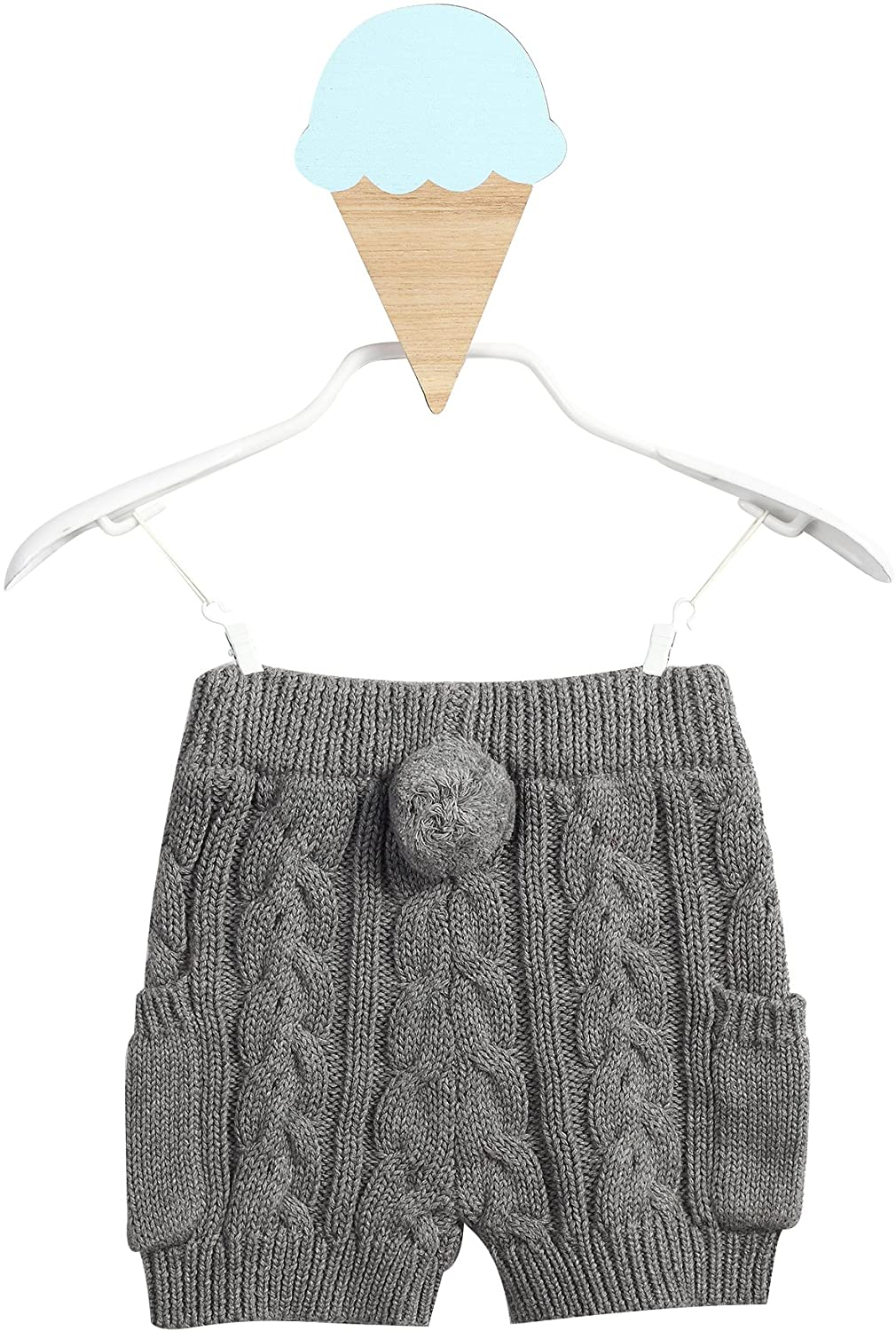 Dada And Mama Baby Girl Cable Knit Casual Pants, Gray- 12 Months to 4 Years