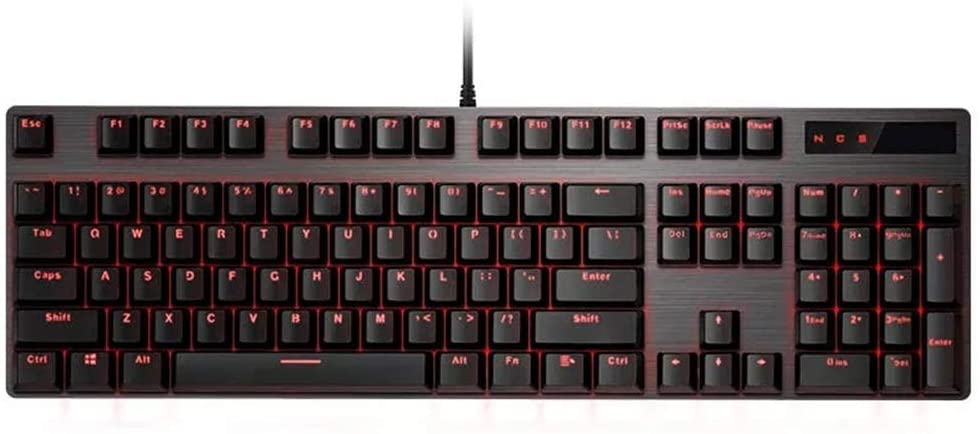 DHUYUN Gaming Mechanical Keyboard 104 Key USB Wired Optical Switch Red Light Mechanical Gaming Keyboards (Color : Black, Size : One Size)
