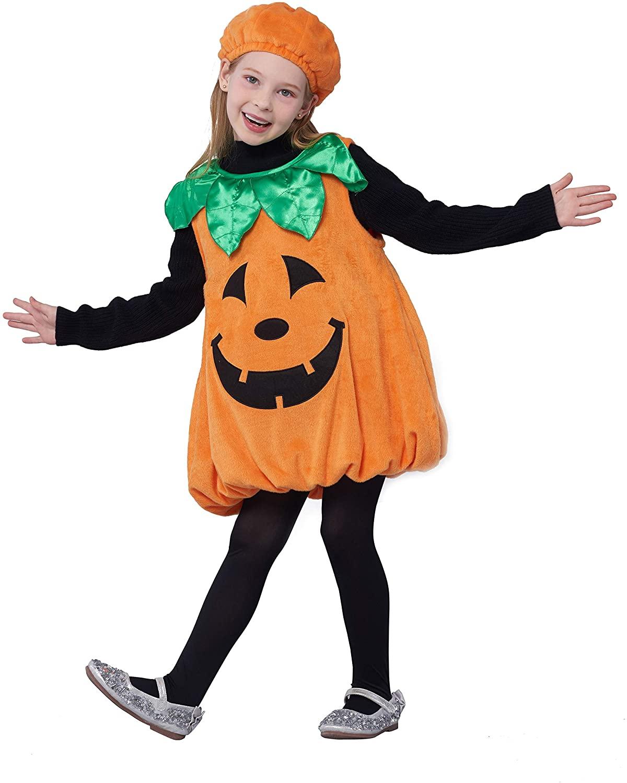 Girls Pumpkin Costume, Lantern Faces Fancy Dress up for Halloween Party