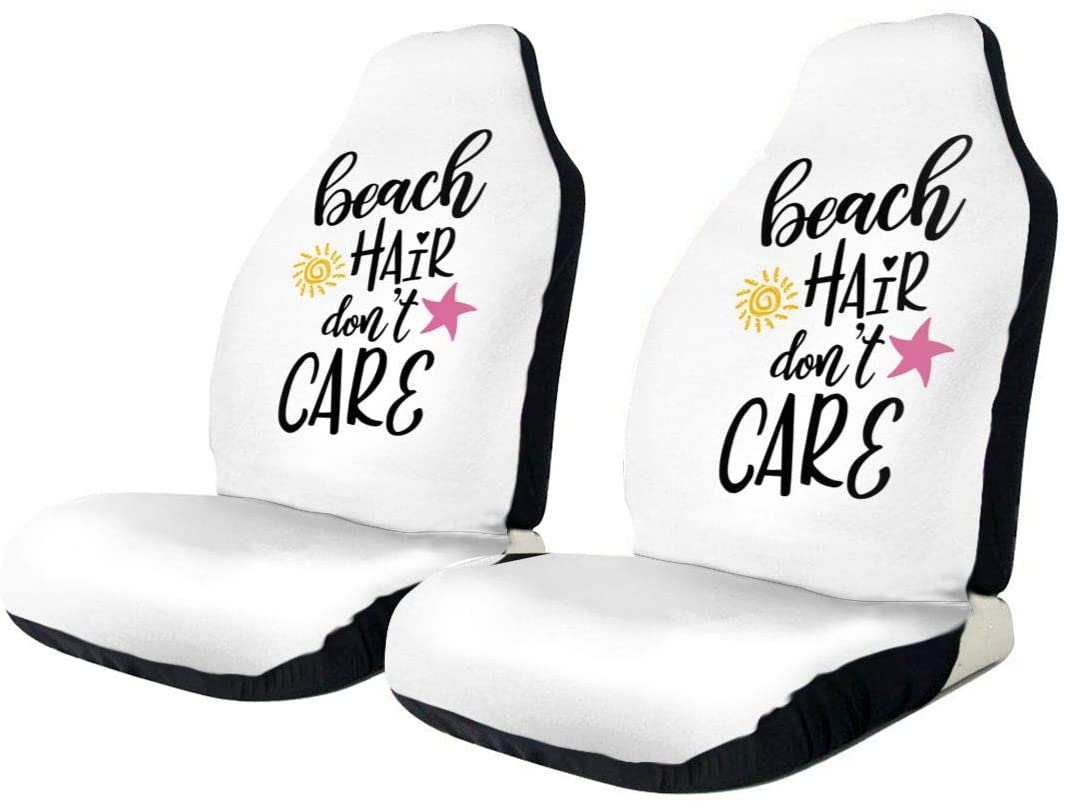 KLQ Beach Hair Don't Care Car Seat Cover Saddle Blanket Seat Pad Protectors