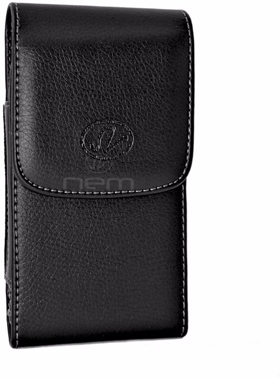 Verizon LG Exalt LTE/ Wine LTE Premium Black Vertical Leather Carrying Case Holster with Swivel Belt Clip