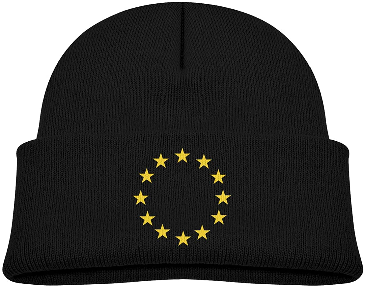 Alin-Z European Union Toddlers Beanie Cuffed Knit Hat Cotton Skull Cap