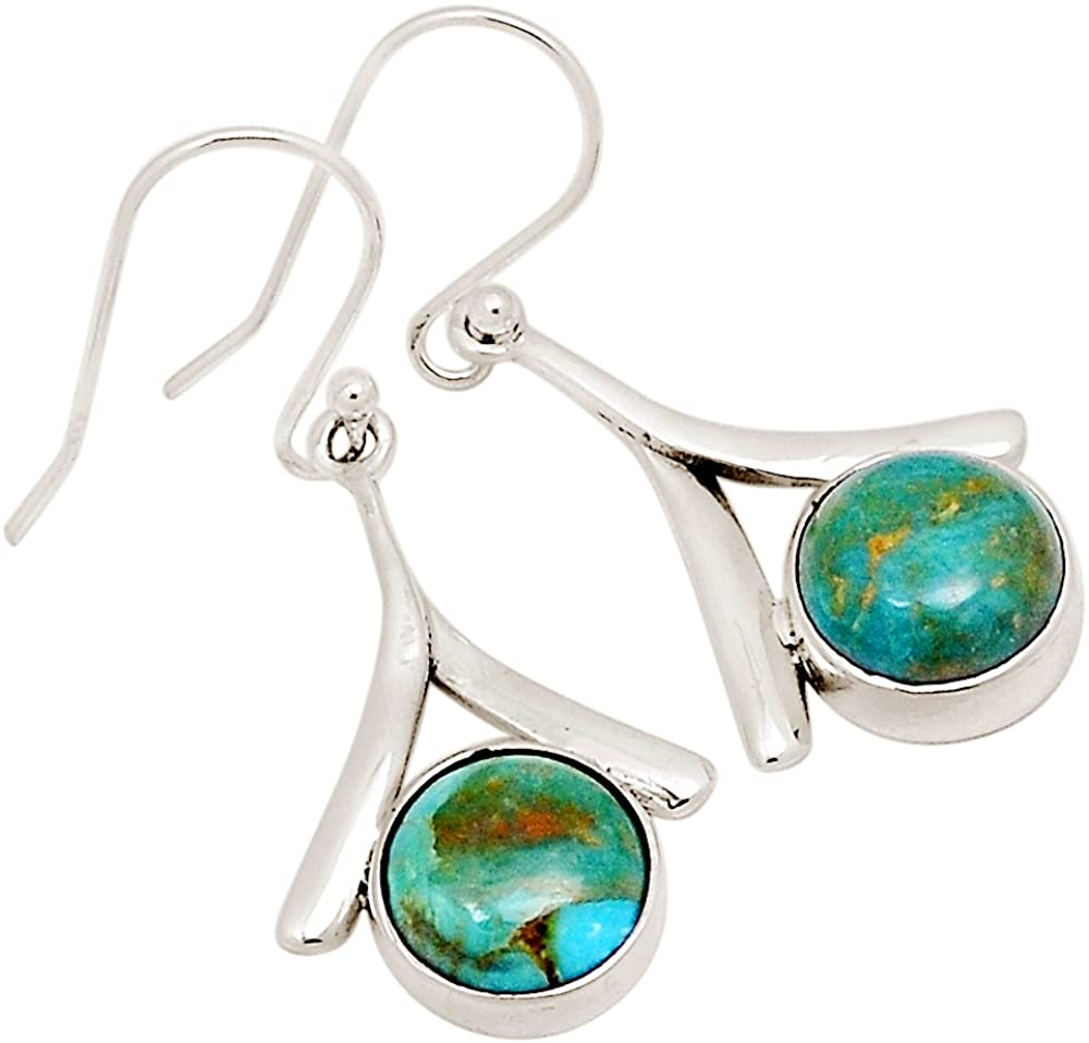 Xtremegems Stablized Blue Turquoise 925 Sterling Silver Earrings 1 5/8