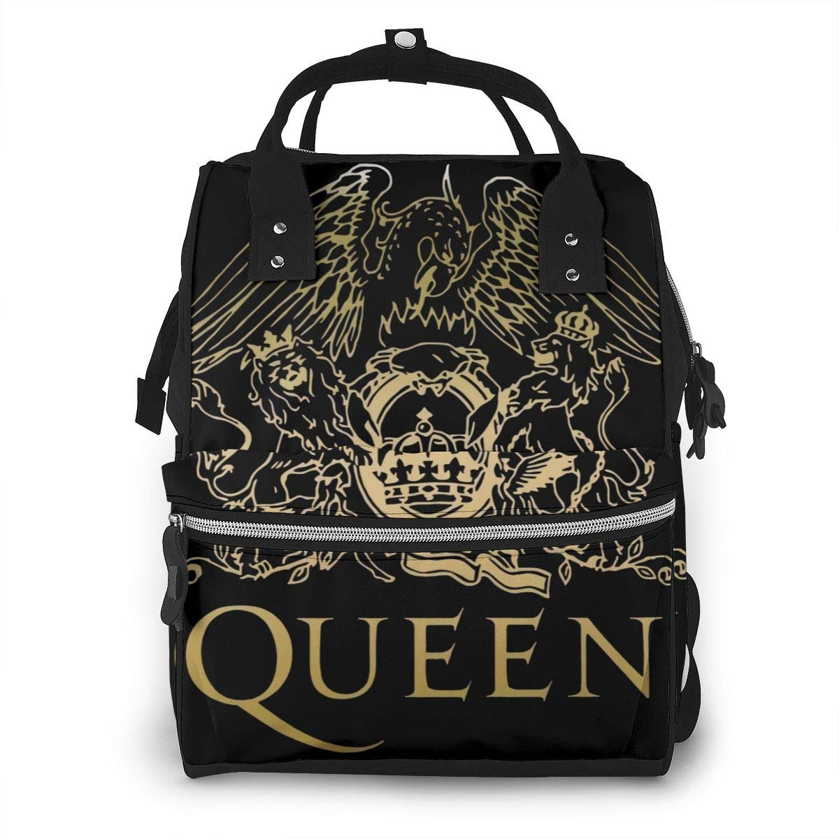 Queen Band Diaper Bags Mummy Backpack Multi Functions Large Capacity Nappy Bag Nursing Bag for Baby Care for Traveling