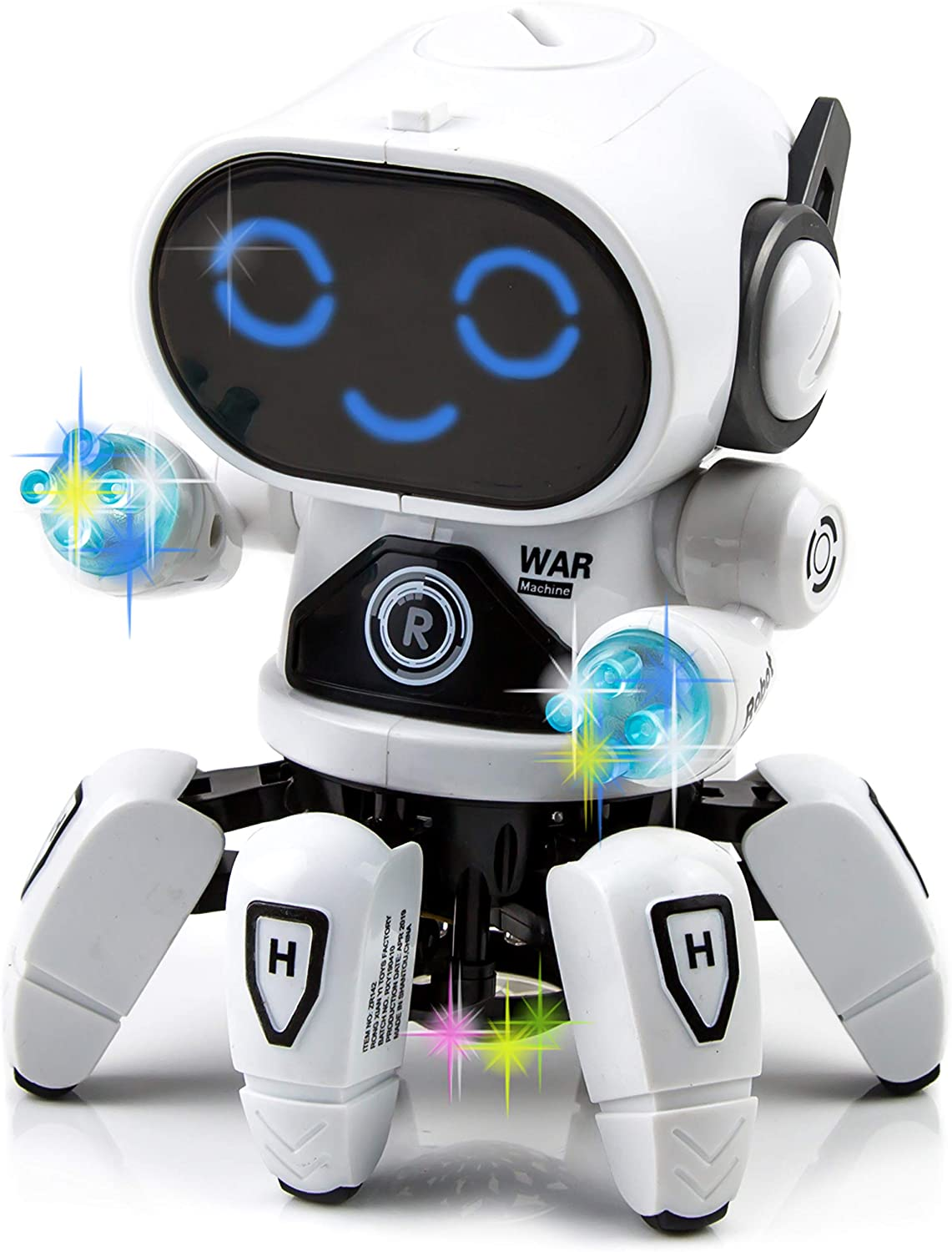 Toytykes Bot Robot Pioneer Equipped with Colorful Lights and Music Can Move Forward and Backward, Turn Left and Right Endless Fun for Kids Materials