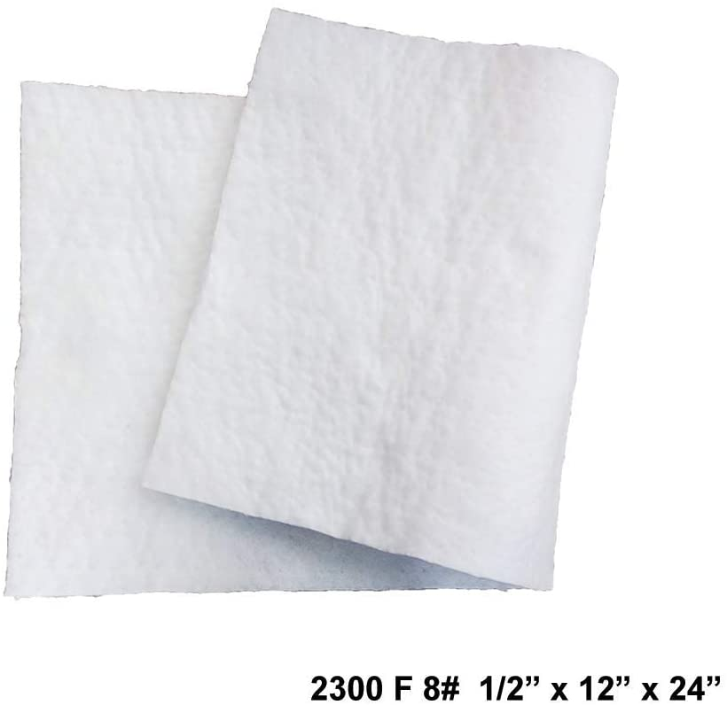 Ceramic Fiber Blanket 8# Density, 2300F (1/2