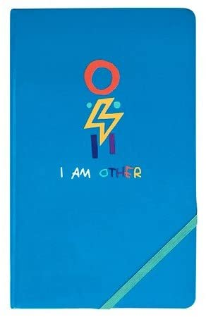 YoobiTM x i am OTHER Hardcover Journal with Elastic Band, 80pgs, 5.2 x 8.5 - Blue