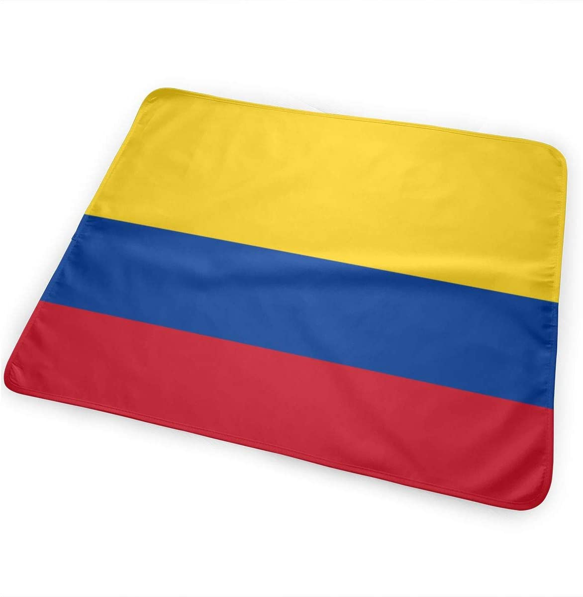 Colombia Flag Breathable Urine Mat Waterproof Changing Pad for Baby Washable Mattress Pad Sheet Protector