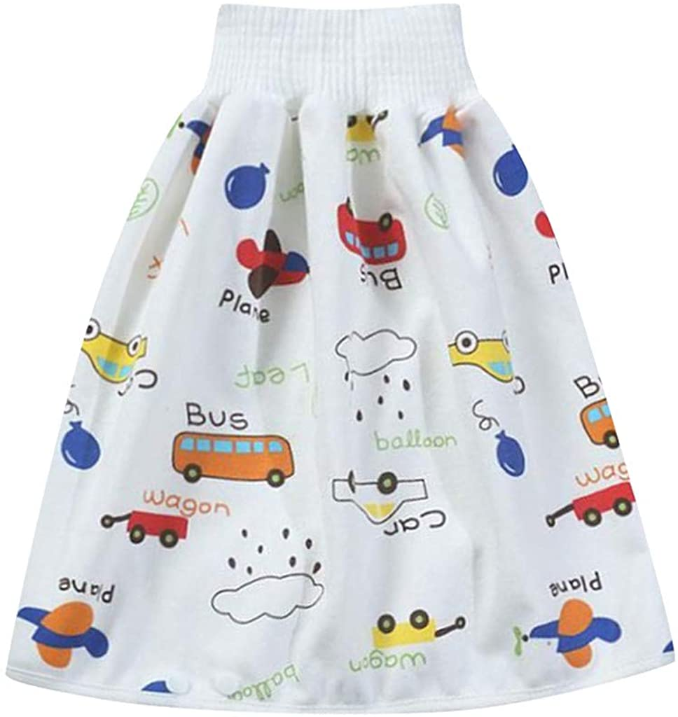 Jesaisque Comfy Reusable Baby Diaper Skirt Shorts 2 in 1 Boy's Girl's Training Skirt Strong Absorption Skirt