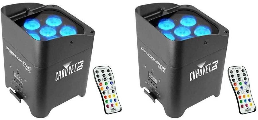Chauvet DJ Freedom Par Tri-6 Wireless Battery RGB LED Wash Light Effect (2 Pack)