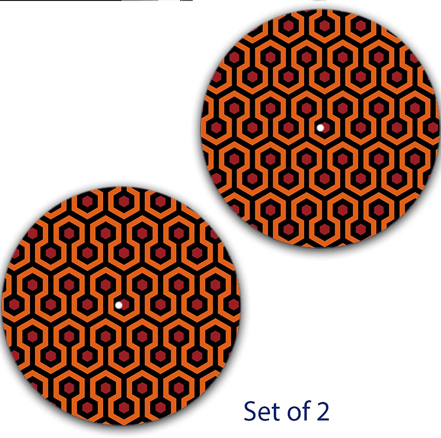 Set of Two Overlook Hotel Carpet The Shining DJ Slipmat 12 inch LP Scratch Pad Slip Mat Audiophile Vinyl Lovers