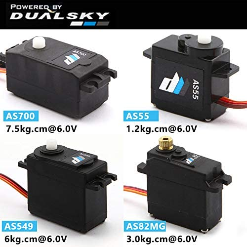 Parts & Accessories DualSky Servo AS55 AS549 AS700 AS82MG Analog servo Servo Digital Coreless servo - (Color: AS55)