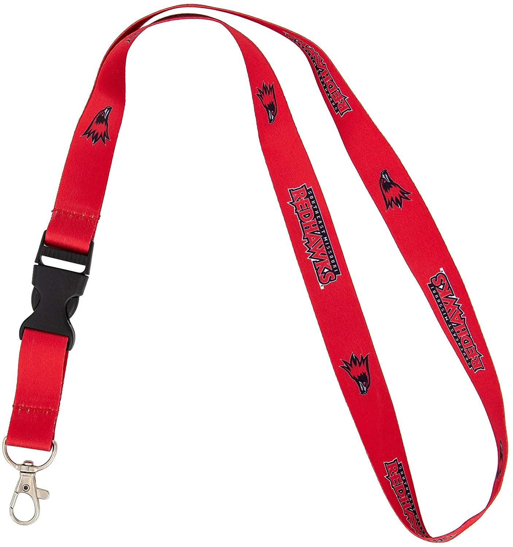 Southeast Missouri State University SEMO Redhawks NCAA Car Keys ID Badge Holder Lanyard Keychain Detachable Breakaway Snap Buckle
