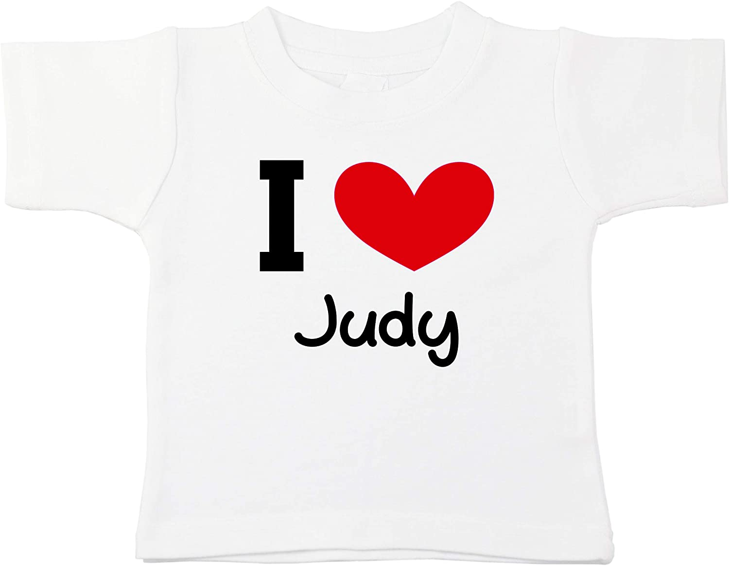 Kinacle I Love Judy Personalized Baby/Toddler T-Shirt