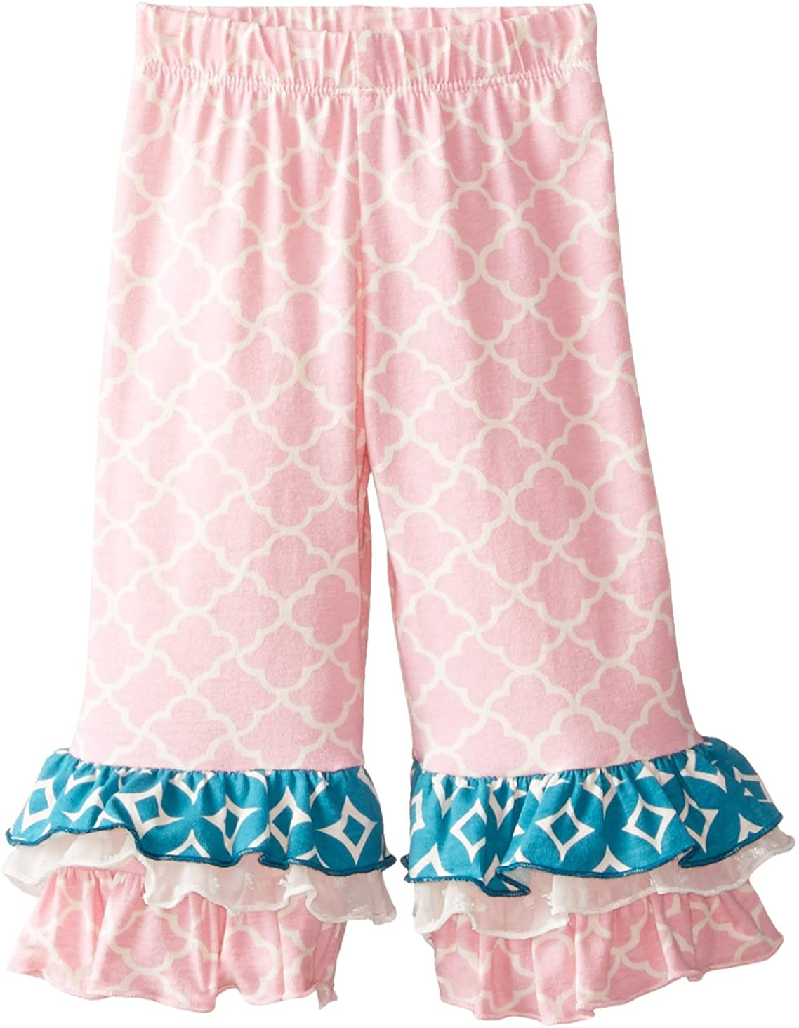 Flap Happy Baby Girls' Triple Ruffle Pant, Teatime Trellis, 12 Months