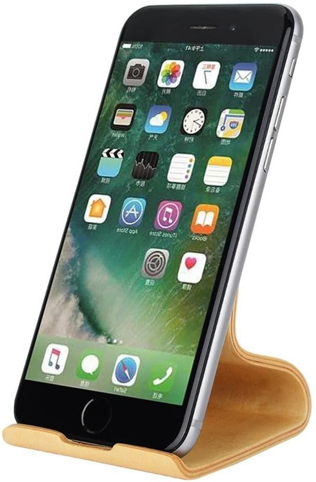 Phone Stand, SAMDI Wood Smartphone Cell Phone Stand Holder for iPhone 6 6s 7 Plus 5 5s 5c, Samsung Galaxy S5 S7 S6. (White Birch)