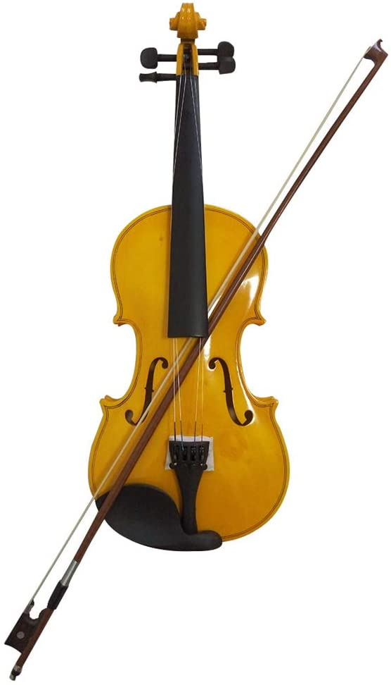 Student Acoustic Violin Full 4/4 Maple Spruce with Case Bow Rosin All Gold Color