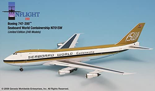 Seaboard World Airlines 747-200 Airplane Miniature Model N701SW Diecast 1:200 Part# A012-IF742009