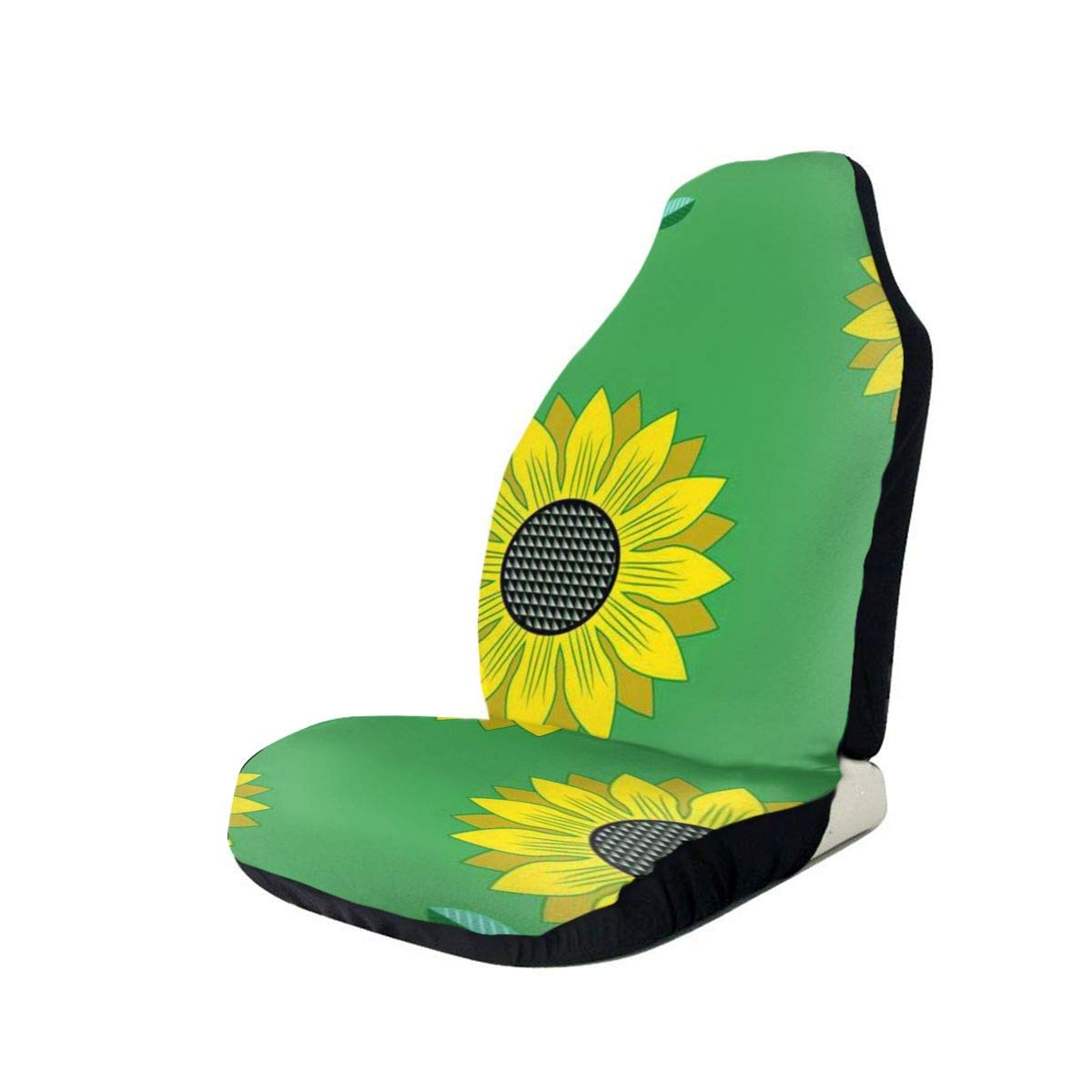 Car Seat Cover Green Sunflower Car Seat Protector,Waterproof Anti-Slip Durable Soft Car Seat Covers for Universal Size Fits for Cars,Trucks & Suvs