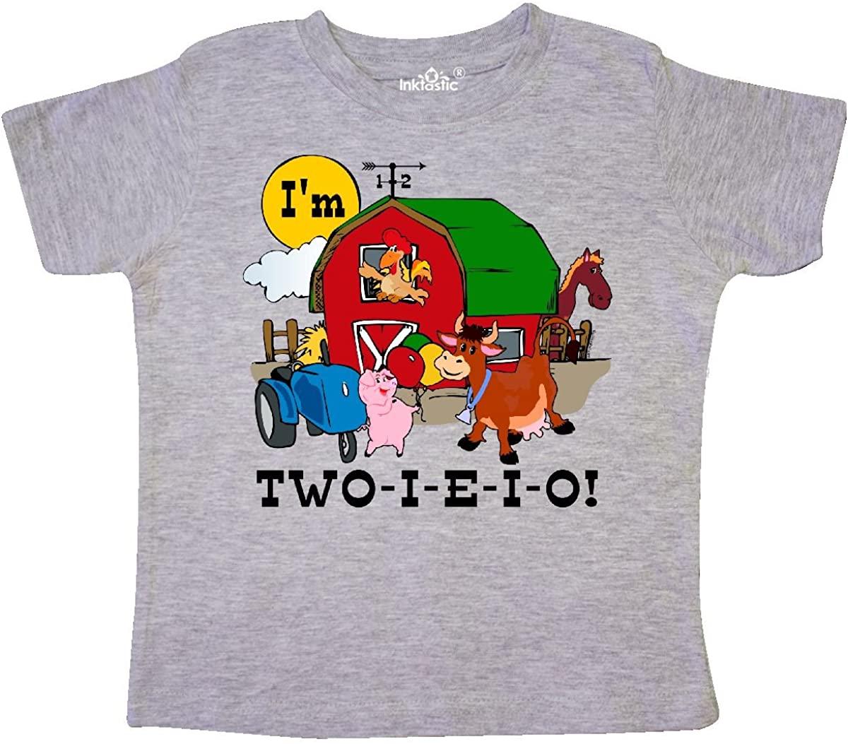 inktastic Two-I-E-I-O Toddler T-Shirt