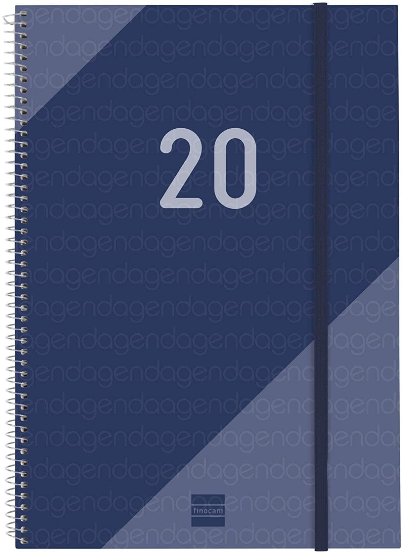 Finocam – Agenda 2020 Week View Vertical Spiral Year Catalan Blue