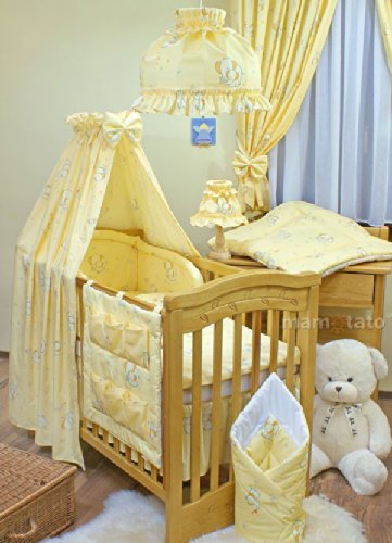 Yellow Elephants Bedding 11 Piece Set