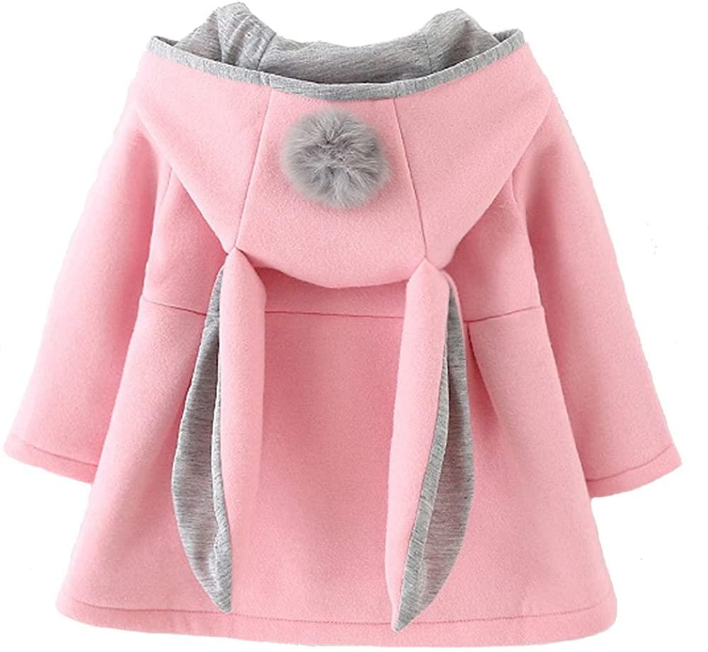 Urtrend Baby Girl's Toddler Kids Fall Winter Coat Jacket Outerwear Ears Hood Hoodie
